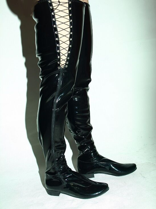 LATEX RUBBER FETISH BOOTS SIZE 4-12- 4-12- 4-12- HEELS 0 - PRODUCER- POLAND 43c869