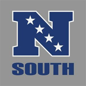 South nfl conference logo vinyl decal sticker car window wall cornhole