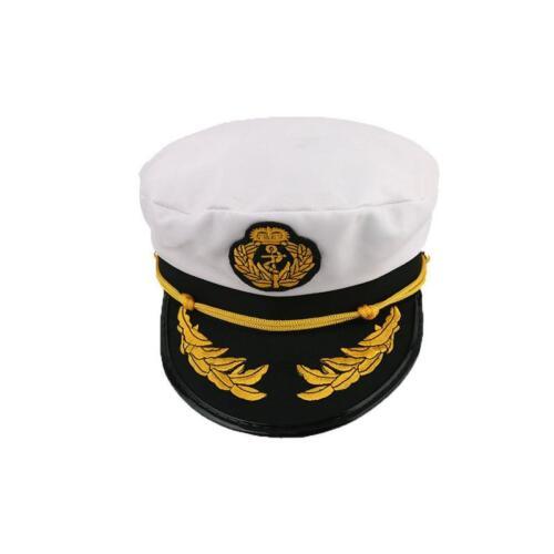 Unisex Yacht Captain Navy Marine Skipper Ship Sailor Military Nautical Hat KI