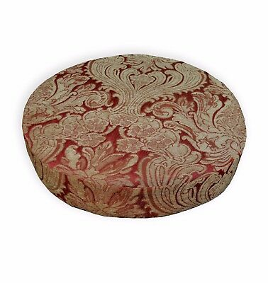 Ng16t Light Brown Gold Red on Light Olive Brown Linen 3D Seat Sofa Cushion Cover