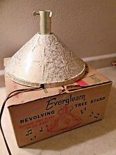 "Evergleam Revolving Christmas Tree Stand For Aluminum Trees Plays ""Silent Night"""