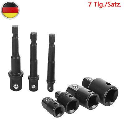 """Bit Adapter 7tlg Stecknuss Nuss Akkuschrauber Bohrmaschine 1//4/"""" 3//8/"""" 1//2/"""" DHL"""
