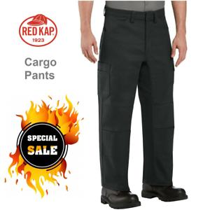 Red Kap Pantalones Cargo Rodilla Doble Trabajo De Rendimiento Mecanico Industrial Pta2a Ebay