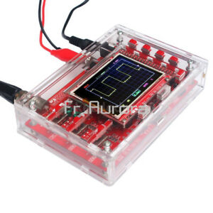 DSO138-2-4-034-TFT-Digital-Oscilloscope-Acrylic-Case-DIY-Kit-SMD-Soldered