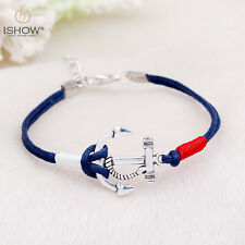 Item 1 Women Men Multilayer Leather Handmade Cuff Wristband Anchor Bracelet Bangle Gift
