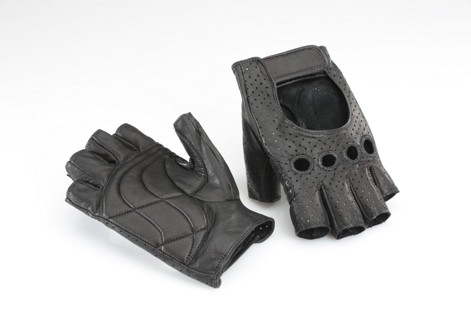 ELIOS-Franconi Retrò Cycle Bicicletta Guanti Pelle Nero, Cycle Retrò gloves, perforata a832b3