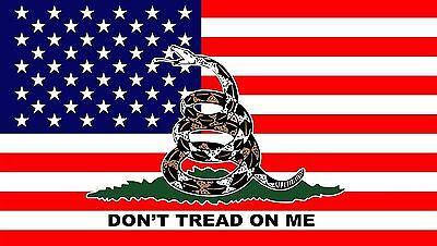 3x5 USA Flag Gadsden Dont Tread On Me Flag American Premium Banner FAST USA SHIP