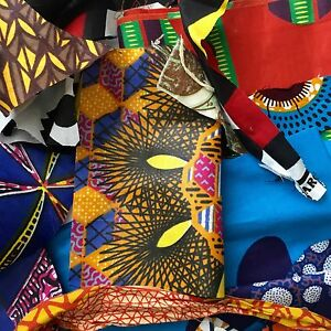 Details about African Fabric Scraps/ Strips/ Remnants *Beautiful* Per Half  Pound
