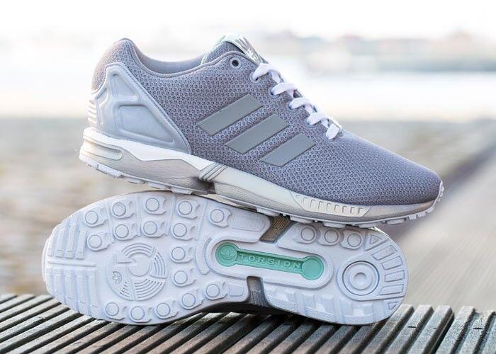 ADIDAS ORIGINALS gris ZX Flux B34483 chaussures gym fitness vente dernières uk 11.5