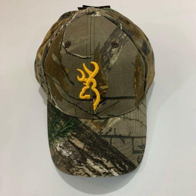 Browning Rimfire Cap Mens Realtree Timber Camo Yellow Baseball Hat New NWT