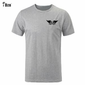 Hot-Rock-Band-Aerosmith-Design-Mens-Summer-T-Shirt-Casual-Print-Graphic-Tops-Tee