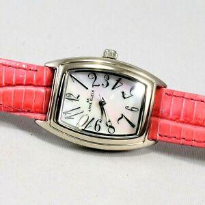 New-ANNE-KLEIN-Women-Watch-Pink-Leather-Strap-10-6985-New-Battery