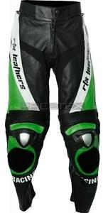 RTX-EVO-Racing-Ninja-Green-Kawasaki-Biker-Motorcycle-Trouser-Pant-Leather-Jeans