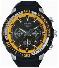 PT3643X1 NEW Pulsar Gents Paul Luc Ronchetti Chronograph Rubber Strap Watch
