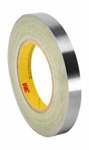 x 5 Yd.,Dark Silver 3M 420 Foil Tape,1//2 In