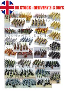 Minifiguras caballeros medievales Crusader Roma presente para niños Lego Compatible