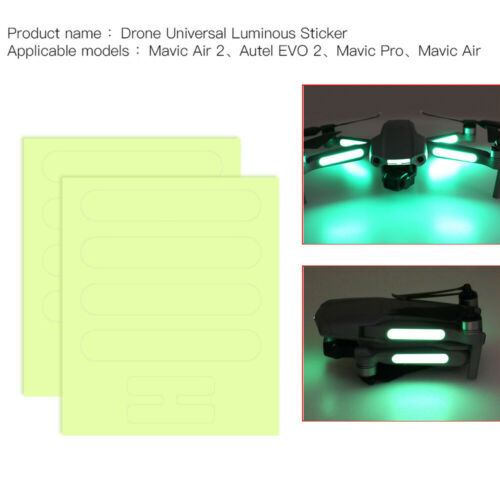 Night Luminous Sticker Noctilucent Decor Decal For DJI Mavic Air 2 RC Drone