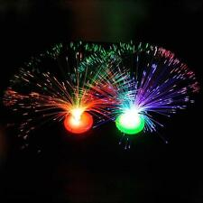Color Changing LED Fiber Optic Night Light Lamp Colorful Stand Home Party Decor