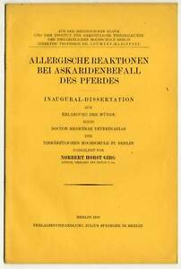 Dissertation-Veterinaer-Medizin-Pferde-Berlin-1930