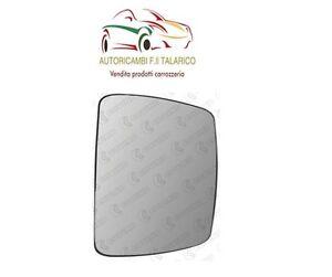 FORD KA DAL 2008/> VETRO PIASTRA SX TERMICO CROMATO PER SPECCHIO RETROVISORE