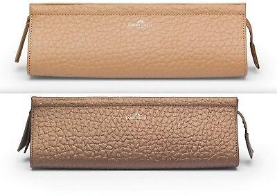 Faber Castell Leder Etui beige goldbraun Make-up Tasche UVP 90 *!bestprice!*