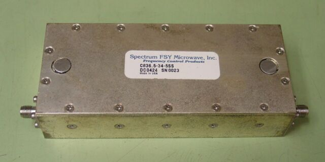 Spectrum Fsy Microwave 836 5 Mhz Rf Bandp Filter