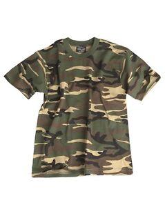 5011c3425d42 Caricamento dell'immagine in corso T-Shirt-BAMBINO-WOODLAND-Militare- Mimetica-Maglietta-Maniche-