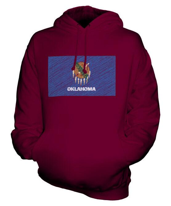OKLAHOMA STATE SCRIBBLE FLAG UNISEX HOODIE TOP GIFT OKLAHOMAN FOOTBALL