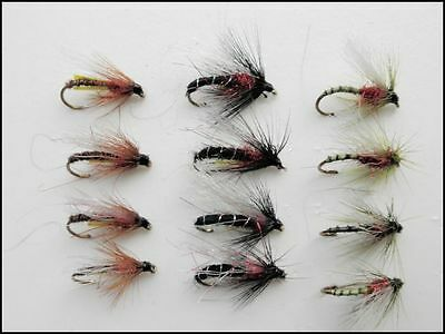 Fishing Epoxy Buzzers Mixed Size 3 varieties 18 Pack Red /& Black Trout Flies