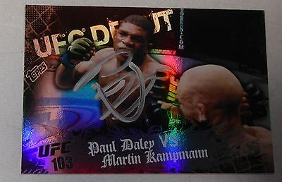 Paul Daley Signed UFC 2010 Topps Main Event Rookie Debut Card #133 RC Autograph