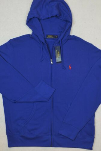 Polo Ralph Lauren Full Zip French Terry Hoodie Jacket Deep Royal 2XB 2XLT NWT