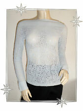 Pull Fantaisie Ajouré Gris Etincelle Couture Taille 3 - 38 / 40