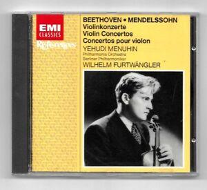 CD-MENUHIN-FURTWANGLER-BEETHOVEN-MENDELSSOHN-EMI-CLASSICS-ALBUM-1984