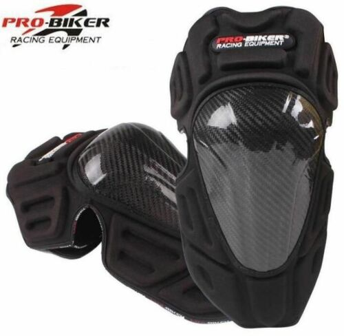 Carbon Fiber Protective Motorcycle Motorbike Racing Knee Pads Off-Road Guard