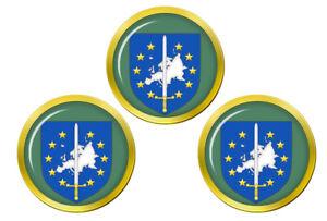 Europeen-Corps-Eurocorps-Marqueurs-de-Balles-de-Golf