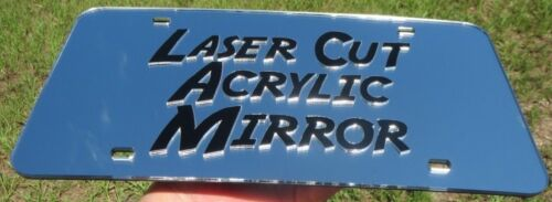 FLY  MIRRORED CHROME LASER CUT LICENSE PLATE LOVE TO FLY AIRPLANE PILOT HOBBY