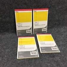 4 Mead Legal Pads 5 X 8 50 Sheets Per Pad Perforated Canary Wide Ruled New