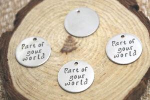 10pcs-part-of-your-world-charm-silver-tone-message-charm-pendant-20mm