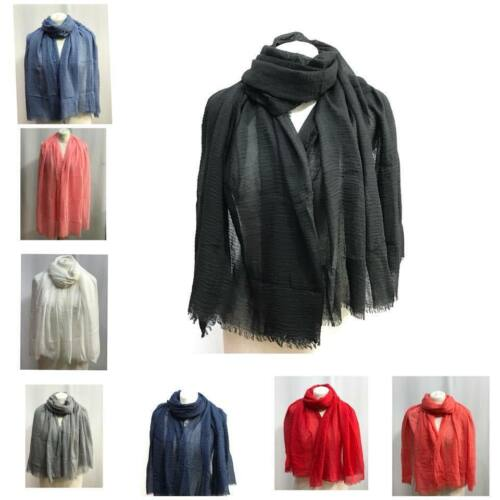 Ladies Women Summer  New Long Plain Pattern Shawl Scarf Warp Stole Big Scarves