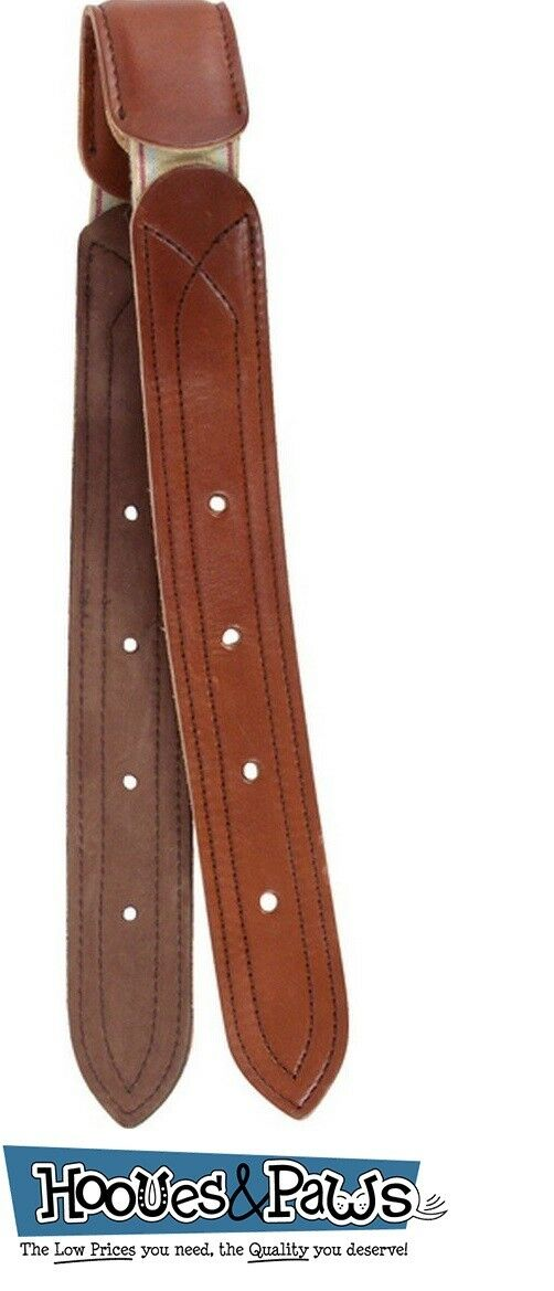 Cashel Elastic Leather Billet Strap Breathe-Easy Chestnut For Western Saddles