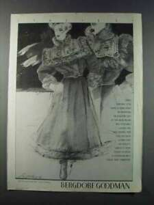 1981 Bergdorf Goodman Fendi Coat Ad - Italia 81