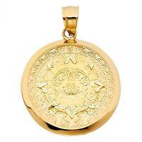 14k Yellow Gold Calendario Azteca Pendant Gjpt1564