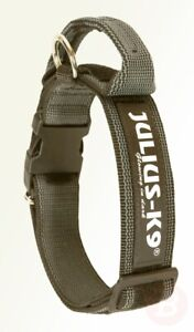 JULIUS-K9-Color-amp-Gray-Collar-with-Handle-Safety-Lock-and-Interchangeable
