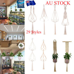 AU-Macrame-Rope-Plant-Hanger-Garden-Flower-Pot-Holder-Hanging-Basket-Decoration
