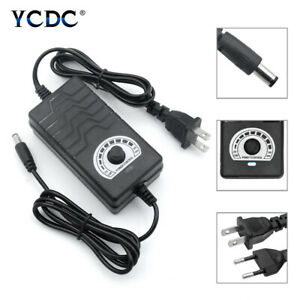 Power Supply Adapter Adjustable Wall Charger AC/DC3-24V With LED Voltage Display