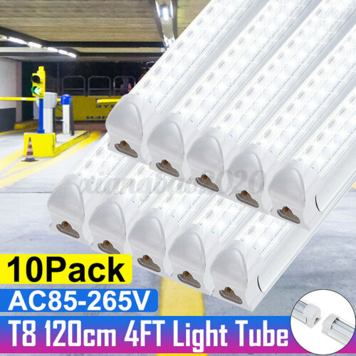 4FT 10 Pack LED Shop Light T8 Linkable Ceiling Tube Fixture 36W Daylight 6500K