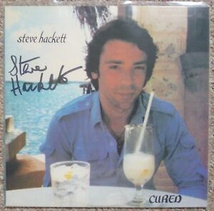 STEVE-HACKETT-Cured-PROMO-LP-ALBUM-Signed-Autographed-Genesis-MINT