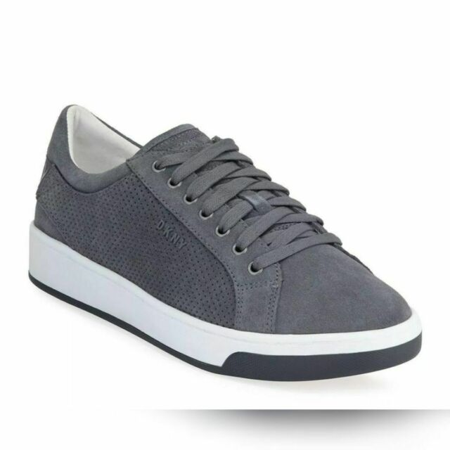DKNY Mens Grey Samson Lace-up Suede