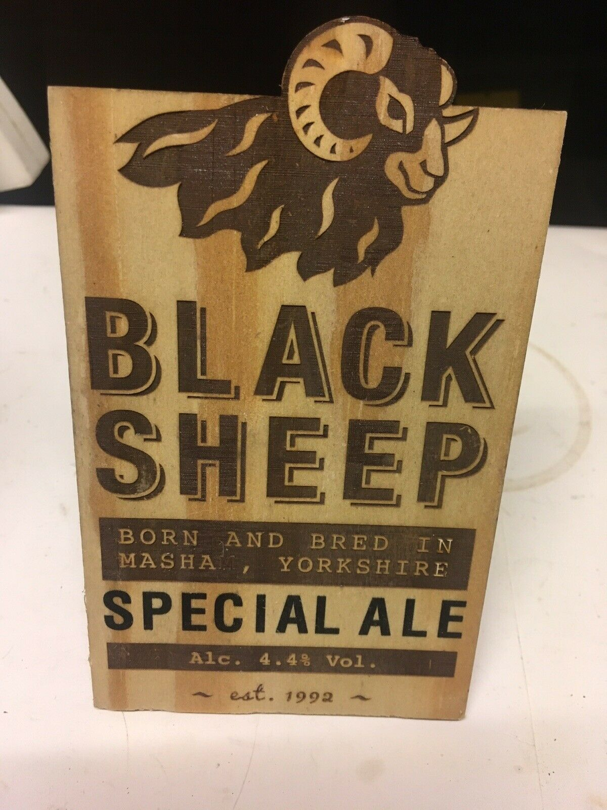 Black Sheep Riggwelter Beer Pump Clip Breweriana Brand New Free Fast P+P