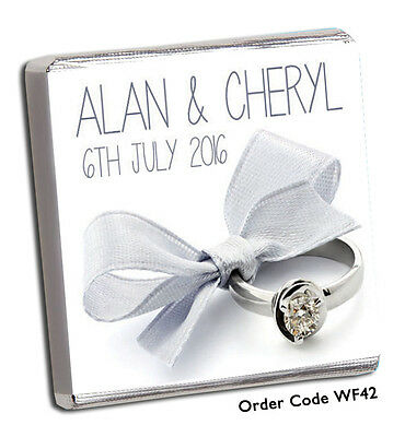 50 Personalised Chocolate Wedding Favours  FREE P+P! FAB 2018 Designs Top Seller